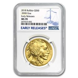 2018 1 oz Gold Buffalo MS-70 NGC (Early Releases)