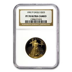 1992-P 1/2 oz Proof Gold American Eagle PF-70 NGC