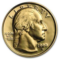 1999-W Gold $5 Commem George Washington Proof (w/Box & COA)