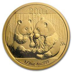 2009 China 1/2 oz Gold Panda BU (Sealed)