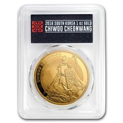 2016 South Korea 1 oz Gold 1 Clay Chiwoo Cheonwang PR-70 PCGS