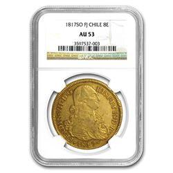 1817-SO FJ Chile Gold 8 Escudos Ferdinand VII AU-53 NGC