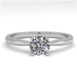1.01 ctw VS/SI Diamond Ring 18K White Gold