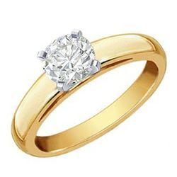 0.50 ctw VS/SI Diamond Necklace 18K Yellow Gold