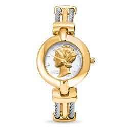 Ladies U.S. Mercury Dime Two-tone Watch