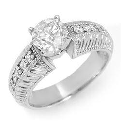 2.19 ctw VS/SI Diamond 2pc Wedding Set Halo 14K White Gold