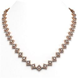 72.27 ctw Tourmaline & Diamond Necklace 14K Rose Gold