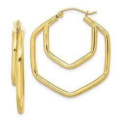 10k Polished Hoop Earrings - 26 mm