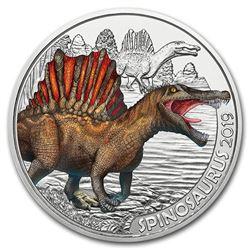 2019 Austria Cupro-Nickel 3 Colorful Supersaurs (Spinosaurus)