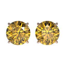 3.01 ctw VS/SI Diamond 2pc Wedding Set Halo 14K Rose Gold