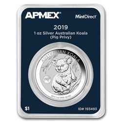 2019 Australia 1 oz Silver Koala Pig Privy (MintDirect® Single)