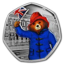 2018 GB 50p Silver 60th Anniv Paddington Bear (Buckingham Palace)