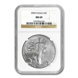 2009 Silver American Eagle MS-69 NGC