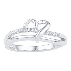 Sterling Silver Round Diamond Square-shape Unique Pendant 1/5 Cttw