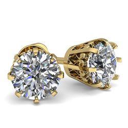 1.54 ctw VS/SI Diamond 2pc Wedding Set Halo 14K White Gold