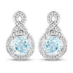 0.42 ctw Genuine White Diamond .925 Sterling Silver Ring