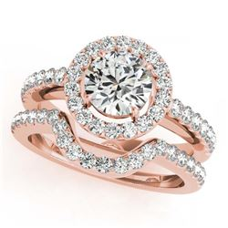 1.20 ctw VS/SI Diamond 2pc Wedding Set 14K Yellow Gold