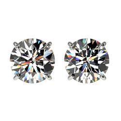 3.14 ctw VS/SI Diamond 2pc Wedding Set Halo 14K White Gold