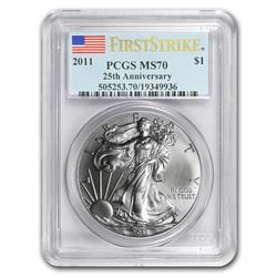 2011 Silver American Eagle MS-70 PCGS (FirstStrike®)