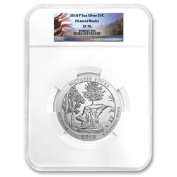 2018-P 5 oz Silver ATB Pictured Rocks SP-70 NGC