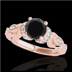 0.55 ctw Intense Yellow Diamond Ring 10K Rose Gold