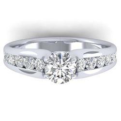 14.31 ctw Amethyst & Diamond Bracelet 14K White Gold