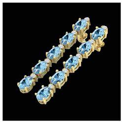 1 ctw VS/SI Diamond Solitaire Art Deco Stud Necklace 18K White Gold
