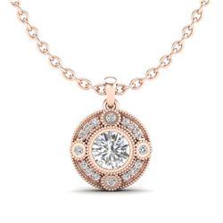 16.76 ctw Amethyst & Diamond Halo Bracelet 10K Rose Gold