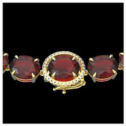 46.44 ctw Canary Citrine & Diamond Bracelet 14K Yellow Gold