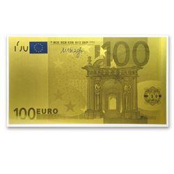 1 gram Gold Note - 100 Euro Note Replica (New Design)