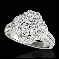 2.5 ctw Fancy Black Diamond Art Deco Stud Earrings 18K White Gold