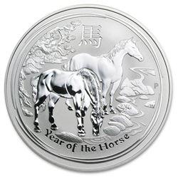 2014 Australia 10 oz Silver Lunar Horse BU (SII)