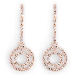 1.25 ctw VS/SI Diamond Halo Necklace 14K White Gold