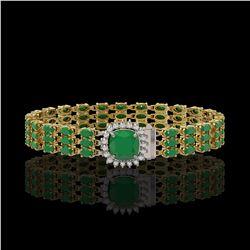 3.55 ctw Citrine And VS/SI Diamond Earrings 18K Yellow Gold