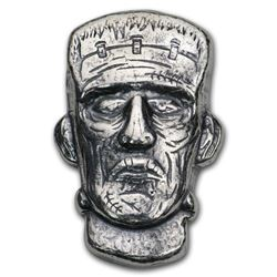 1.5 oz Hand Poured Silver - MPM (Frankenstein)