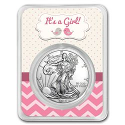2019 1 oz Silver American Eagle - It's A Girl