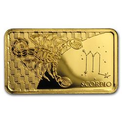 2020 Solomon Islands 1/2 Gram Gold Zodiac Ingot (Scorpio)