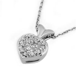 0.20 ctw VS/SI Diamond Necklace 14K White Gold