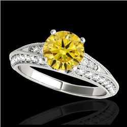 1.60 ctw H-SI/I Diamond Solitaire Halo Ring 10K White Gold