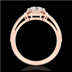 3.84 ctw Cushion Diamond Earrings 18K Rose Gold