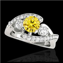 2 ctw H-SI/I Diamond Solitaire Halo Ring 10K White Gold