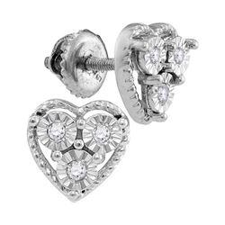 Sterling Silver Round Diamond S Link Tennis Bracelet 1/3 Cttw