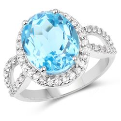 3 ctw Garnet & VS/SI Diamond Halo Ring 18K White Gold