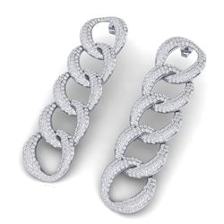 3.39 ctw Emerald & Diamond Ring 14K White Gold