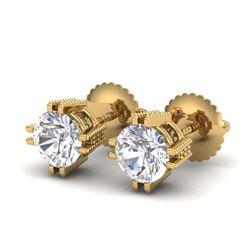 13.82 ctw Tanzanite & Diamond Earrings 14K Rose Gold