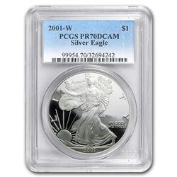 2001-W Proof Silver American Eagle PR-70 PCGS