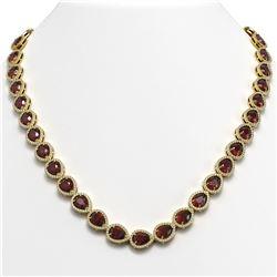 5.28 ctw Aquamarine & Diamond Necklace 14K Yellow Gold