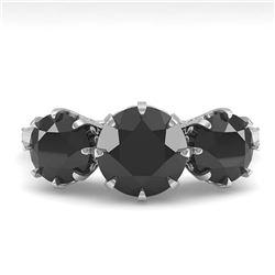 5.98 ctw Genuine Green Amethyst & Green Diamond .925 Sterling Silver Ring