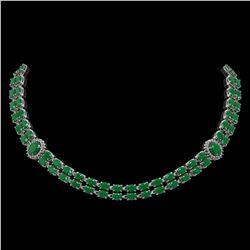 49.17 ctw Sapphire & Diamond Bracelet 14K Yellow Gold