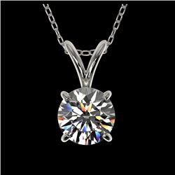 1.33 ctw VS Black Diamond Solitaire Halo Ring 10K White Gold
